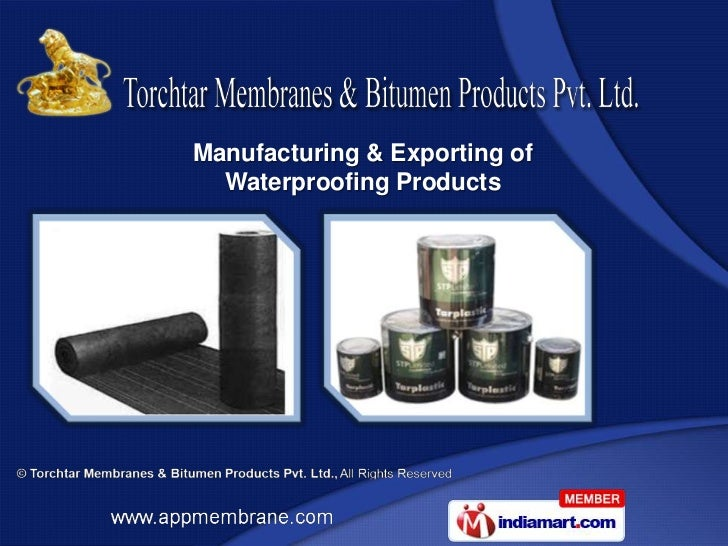 Manufacturing & Exporting of  Waterproofing Products