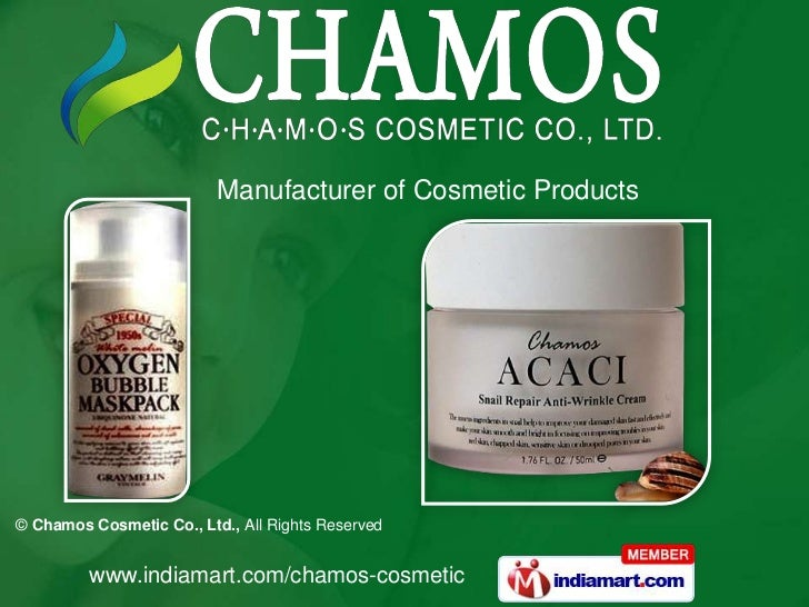 Manufacturer of Cosmetic Products© Chamos Cosmetic Co., Ltd., All Rights Reserved         www.indiamart.com/chamos-cosmetic