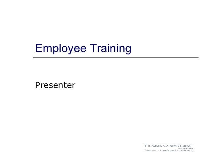 Employee Training Presenter