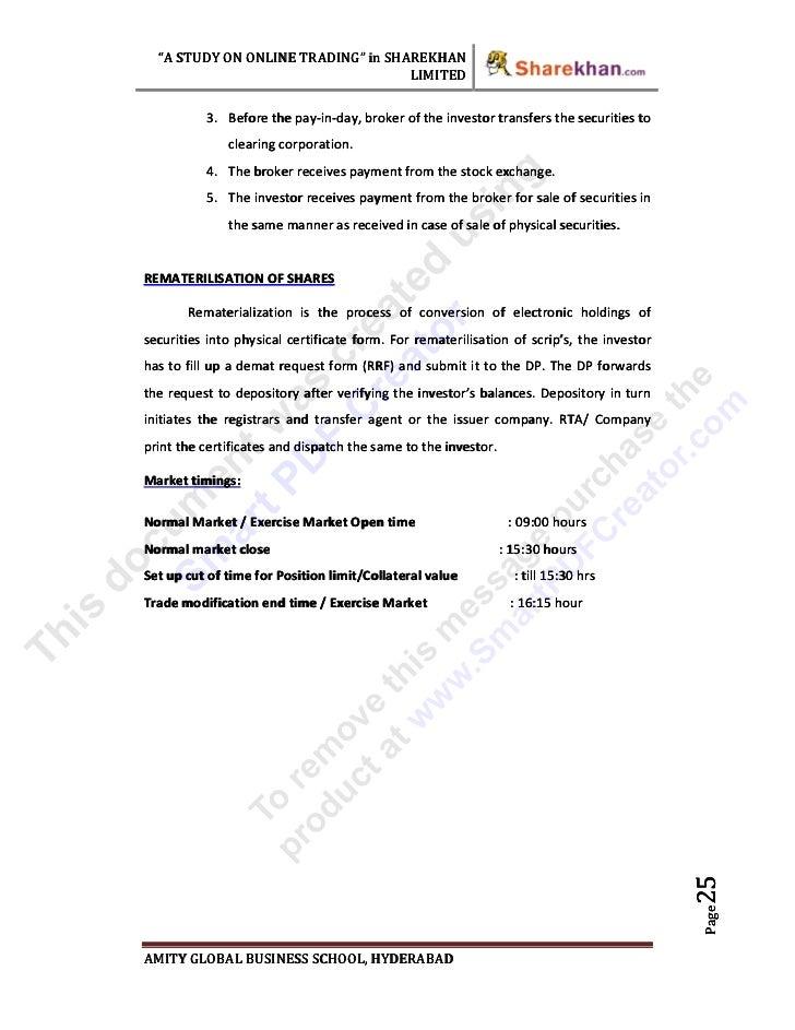 Case study on demat account