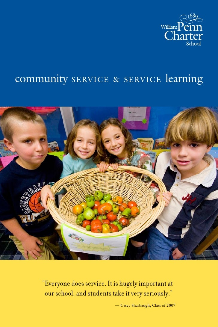 "community      service & service                         learning         ""Everyone does service. It is hugely important a..."