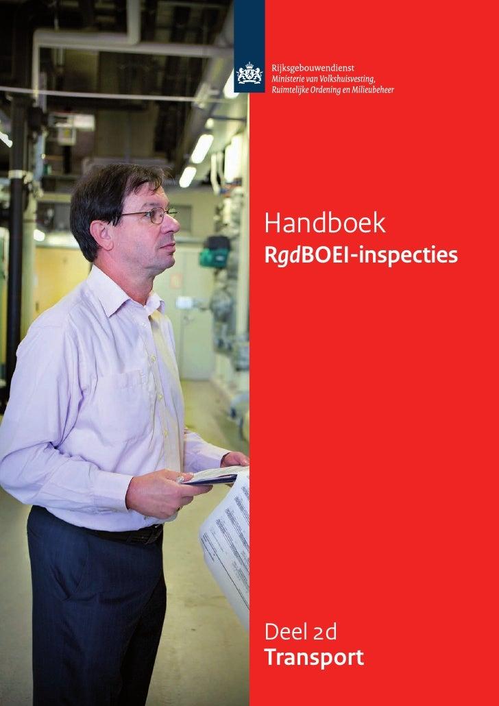 Handboek RgdBOEI-inspecties     Deel 2d Transport