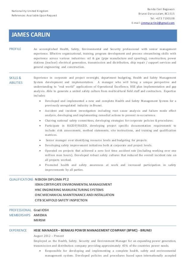 Jim Carlin HSE CV Aug 2015 (2)