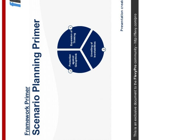 This is an exclusive document to the FlevyPro community - http://flevy.com/pro Framework Primer Scenario Planning Primer P...