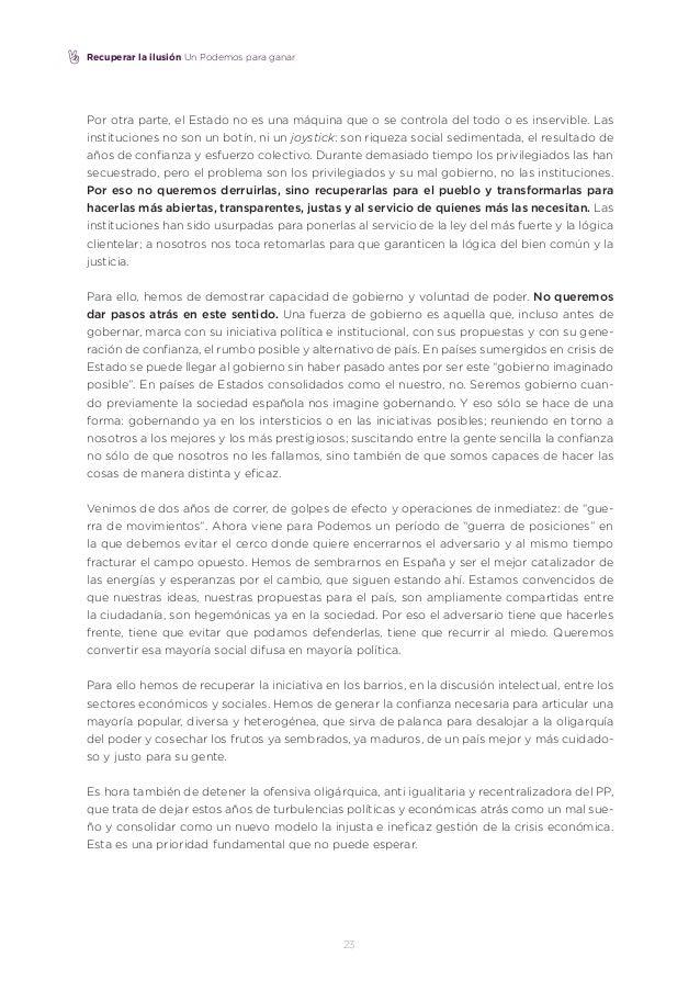 Borrador del documento para Vistalegre II de Iñigo Errejon