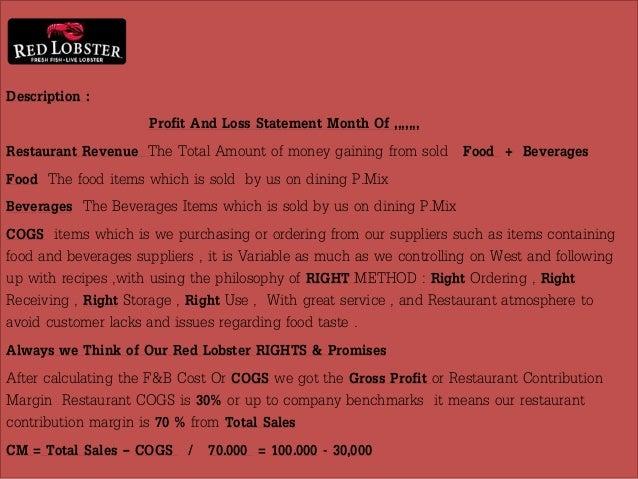 PL  Basics Of Restaurant Financial Business Operation