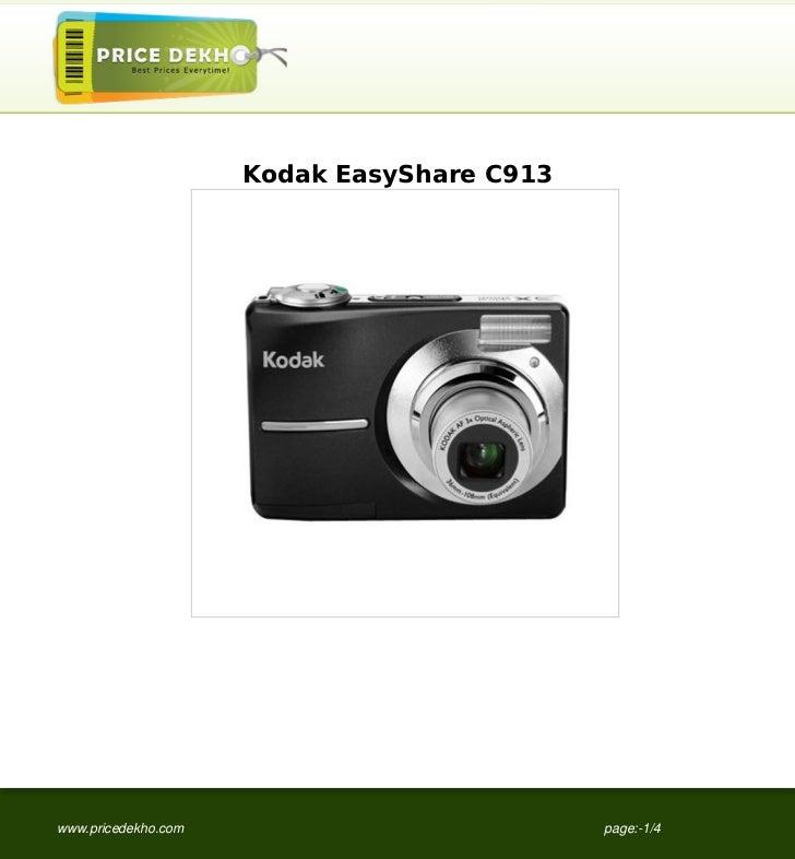 Kodak EasyShare C913www.pricedekho.com                          page:-1/4