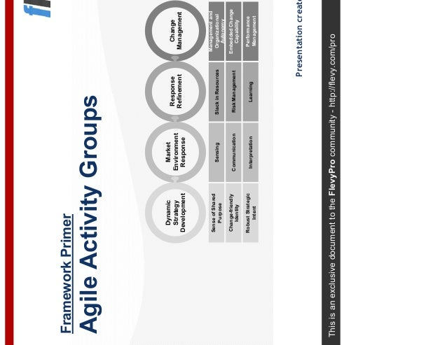 This is an exclusive document to the FlevyPro community - http://flevy.com/pro Framework Primer Agile Activity Groups Pres...