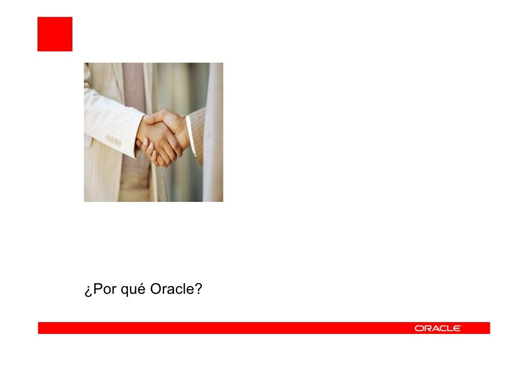 ¿Por qué Oracle?