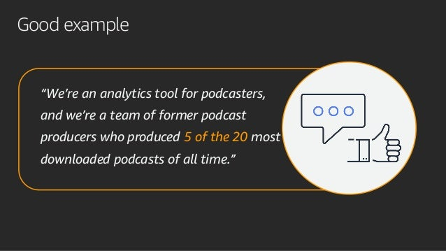 """""""We're an analytics tool for podcasters, and we're a team of former podcast producers who produced 5 of the 20 most downlo..."""