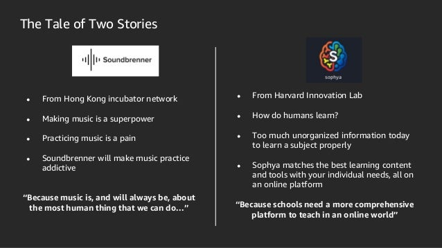 The Tale of Two Stories ● From Hong Kong incubator network ● Making music is a superpower ● Practicing music is a pain ● S...