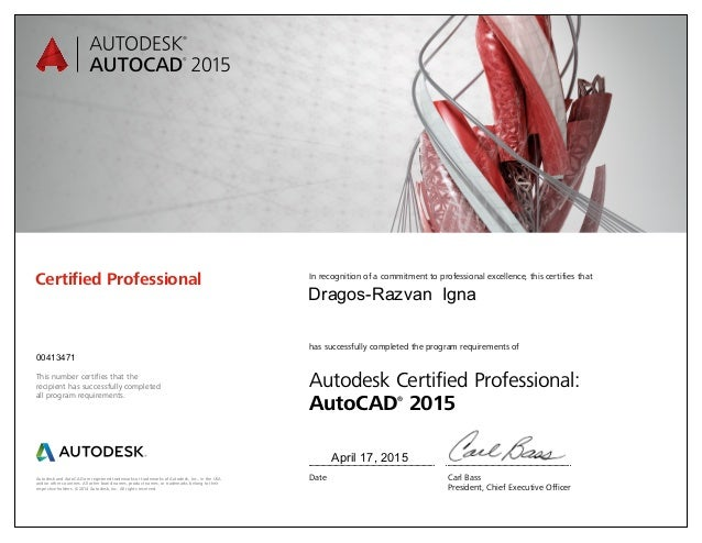 autocad 2015 certification