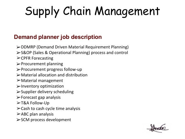 DemandPlanningRAKIB – Supply Chain Management Job Description