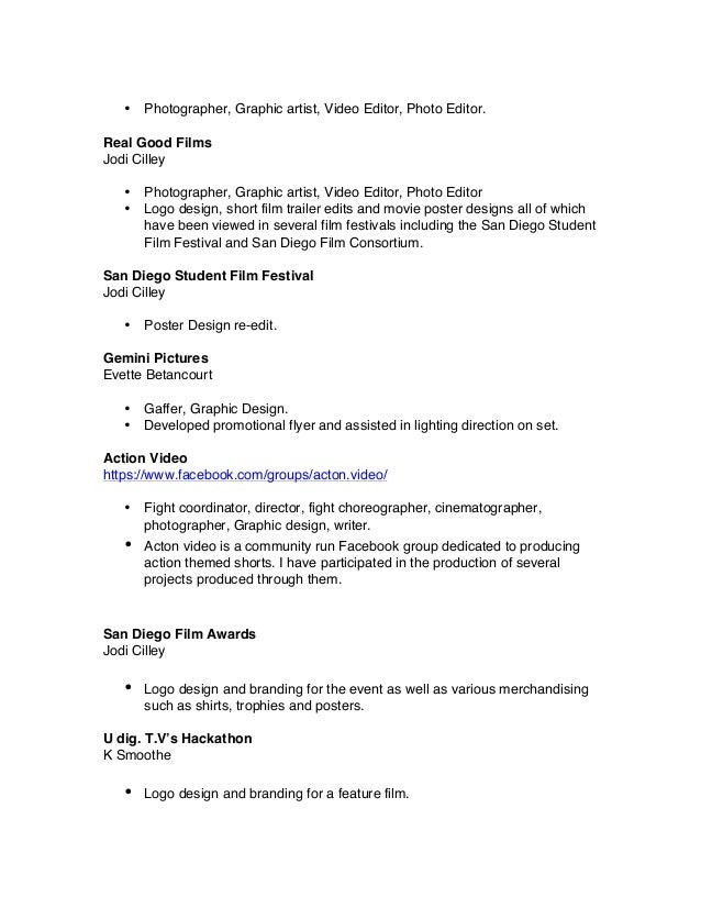 Film Resume Example Editor Resume Freelance Editor Sample Resume Ticket  Format Event Ticket Maker Samples Resume  Film Editor Resume