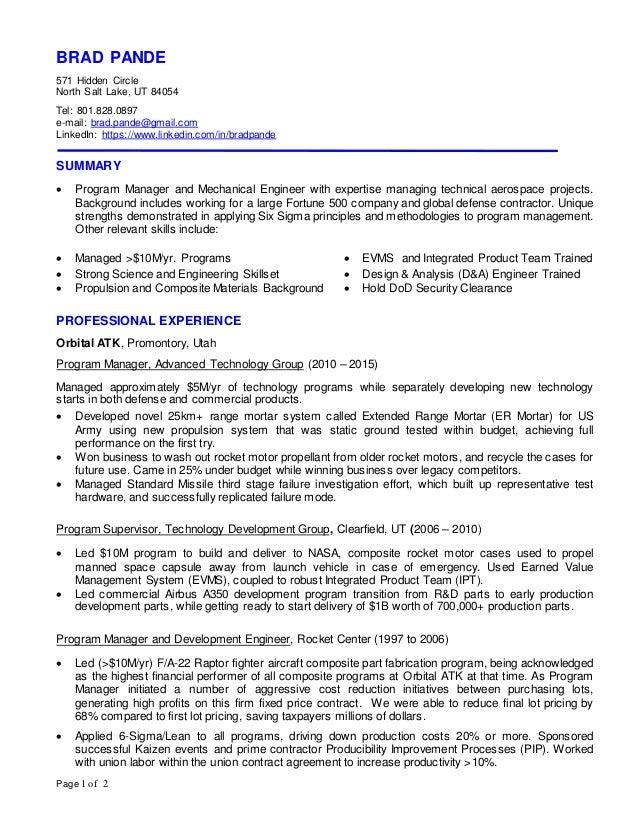 resume pinterest aerospace engineering - Aerospace Engineer Resume