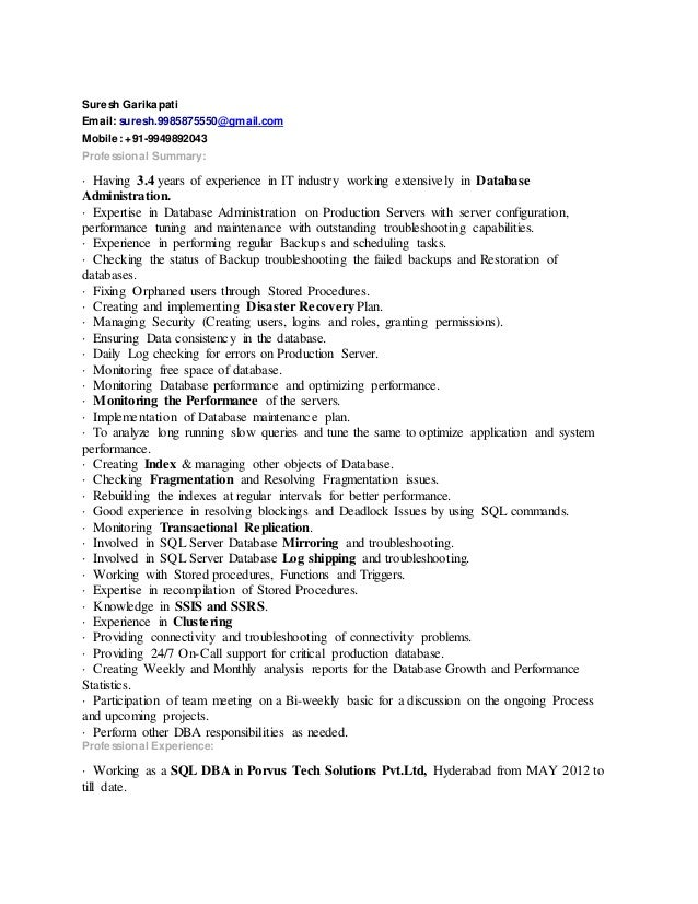 dba resume cover letter