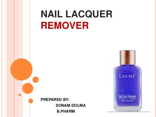 Nail lacquer remover