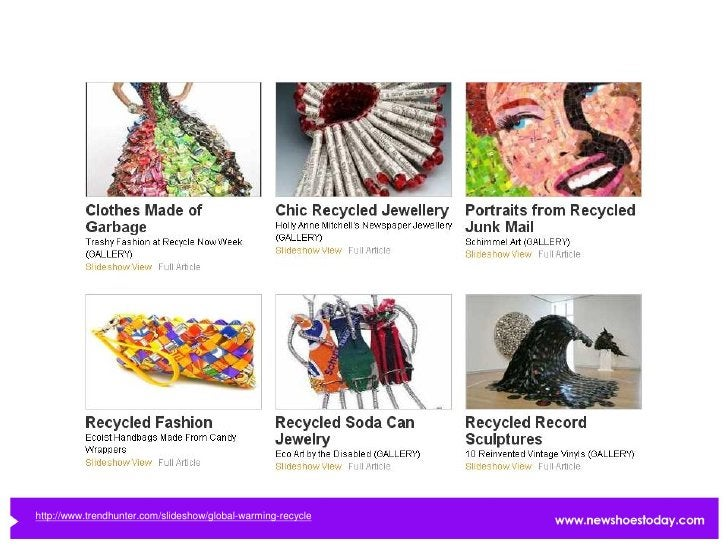 http://www.trendhunter.com/slideshow/global-warming-recycle