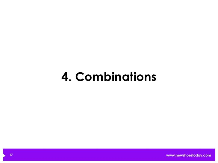 4. Combinations17