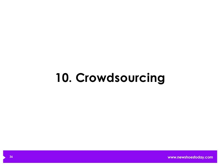 10. Crowdsourcing36