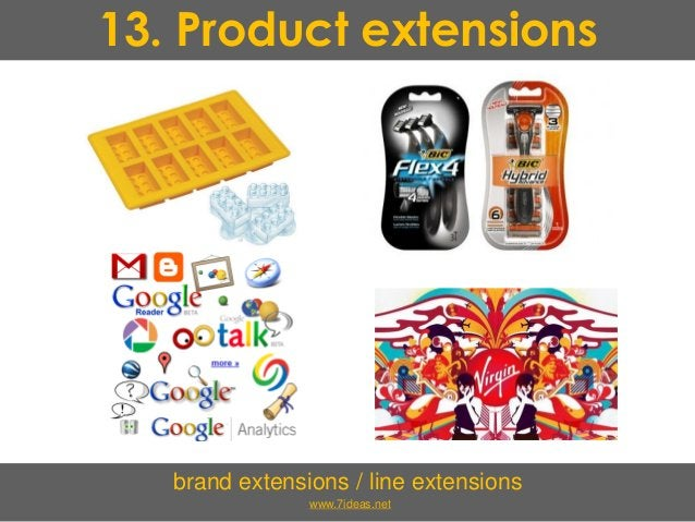 13. Product extensions brand extensions / line extensions www.7ideas.net