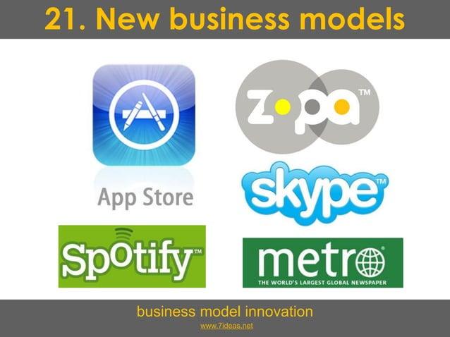 21. New business models business model innovation www.7ideas.net