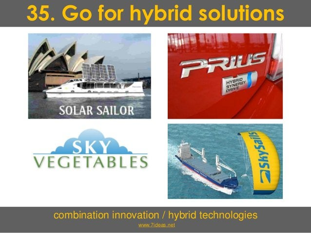 35. Go for hybrid solutions combination innovation / hybrid technologies www.7ideas.net