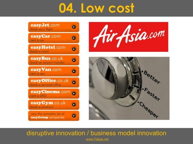 04. Low cost disruptive innovation / business model innovation www.7ideas.net