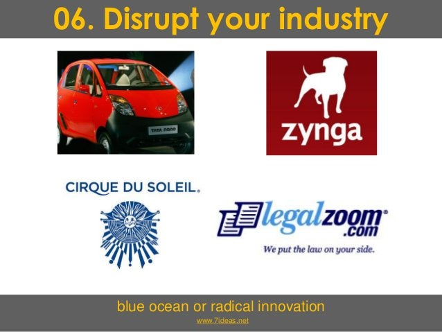 06. Disrupt your industry blue ocean or radical innovation www.7ideas.net