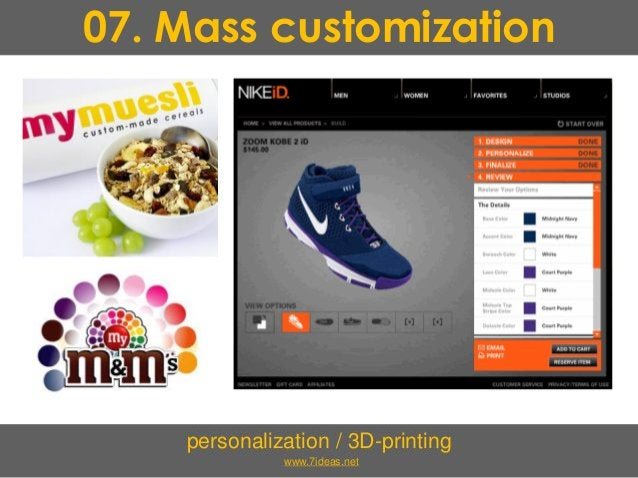 07. Mass customization personalization / 3D-printing www.7ideas.net