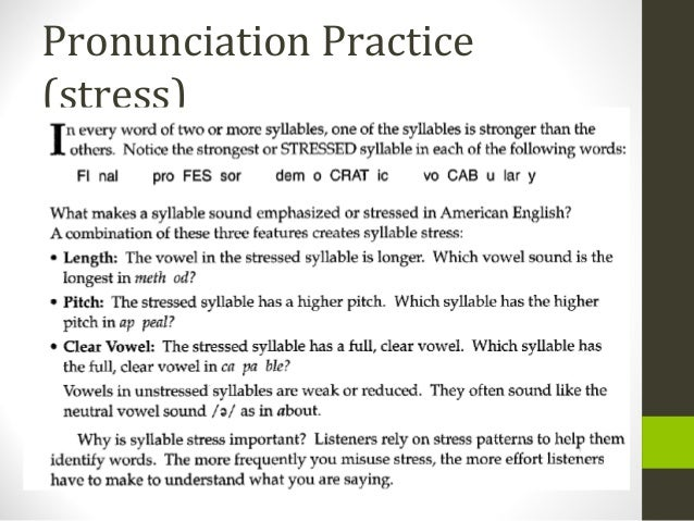 38  re take unit 5 test, pronunciation p b-stress