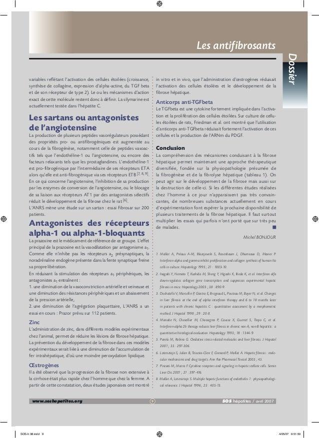 Les antifibrosants in vitro et in vivo, que l'administration d'œstrogènes réduisait l'activation des cellules étoilées et ...