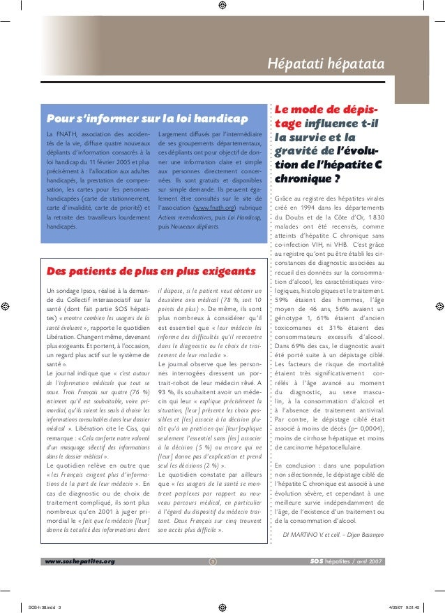 Hépatati hépatata Pour s'informer sur la loi handicap La FNATH, association des accidentés de la vie, diffuse quatre nouve...