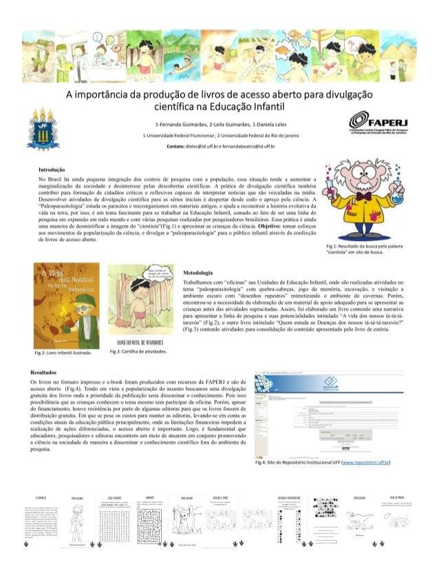 A importância da produção de livros de acesso aberto para divulgação científica na educação infantil - CONFOA 2017