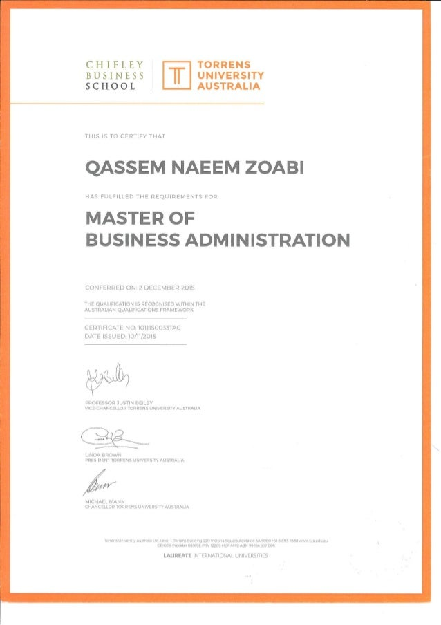 Mba Certificates Qnz Original 1