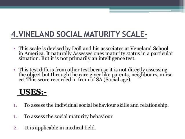 Vineland social maturity scale ppt