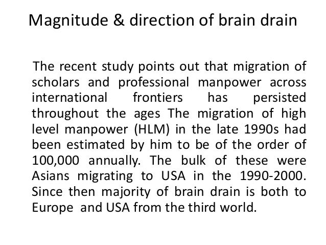 internal migration and brain drain economics essay Willy brandt series of working papers in international migration and ethnic relations 3/12 i m e r • m i m m al mö 2012  the 'new economics' of migration and finally approaches based on the 'transnational turn' in migration studies in the conclusion i point up some future challenges to.