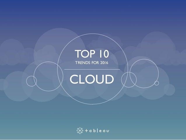 TOP 10 TRENDS FOR 2016 CLOUD