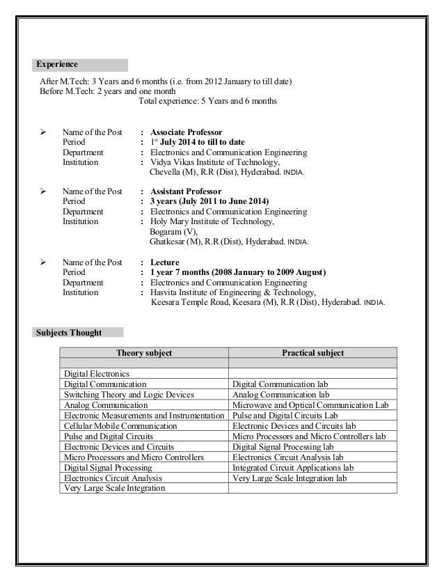 Resume (ECE)