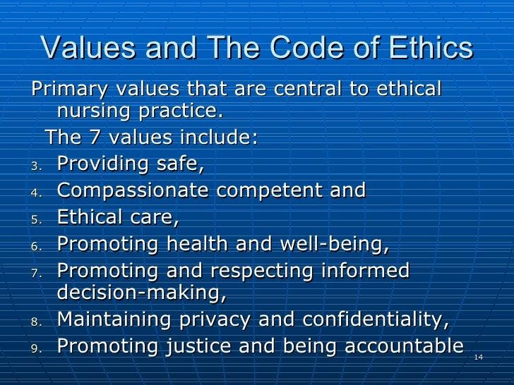 values in nursing practice