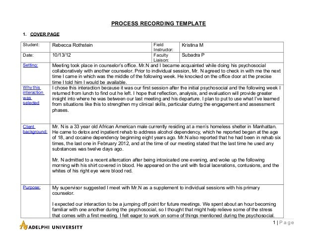 Sample process recordings psychiatric nursing