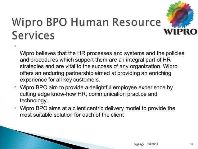 hr policy of wipro Amidst fear of layoffs across many it companies, saurabh govil, head of wipro's  human resources, explains who are the affected lot and why it.