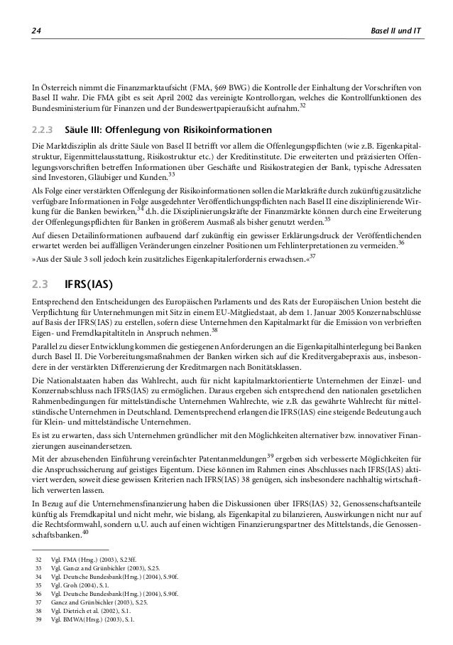 28 Basel II und IT Die neue Version der Oracle E-Business Suite 11i.10 enthält besondere Funktionalitäten für Basel II,75 ...