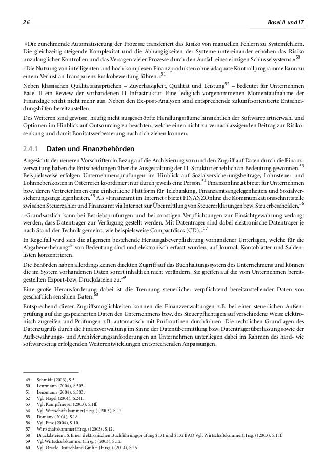 30 Basel II und IT Nachfolgend werden die KMU-Finanzierung, Bankenbeziehung, Relevanz des Referenzzinssatzes und Handlungs...