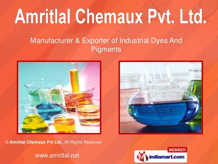 Manufacturer & Exporter of Industrial Dyes And <br />Pigments<br />