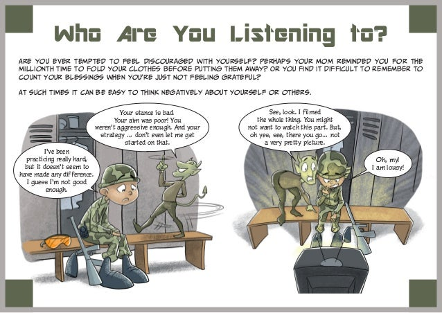 Who Are You Listening to? Are you ever tempted to feel discouraged with yourself? Perhaps your mom reminded you for the mi...