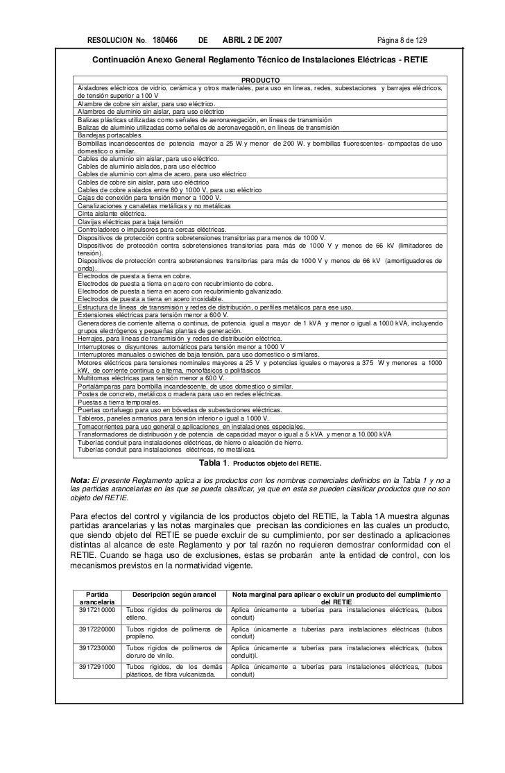 RESOLUCION No. 180466                 DE        ABRIL 2 DE 2007                                    Página 8 de 129      Co...