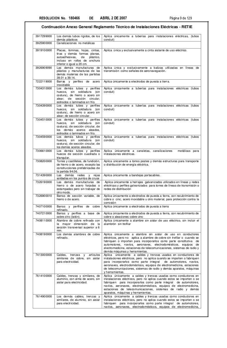RESOLUCION No. 180466                DE           ABRIL 2 DE 2007                                     Página 9 de 129   Co...