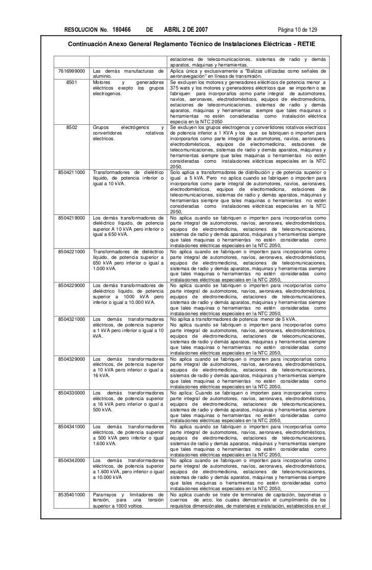RESOLUCION No. 180466               DE          ABRIL 2 DE 2007                                     Página 10 de 129   Con...