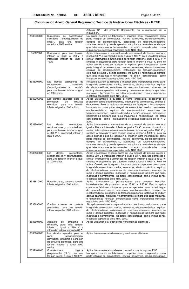 RESOLUCION No. 180466                DE          ABRIL 2 DE 2007                                     Página 11 de 129   Co...